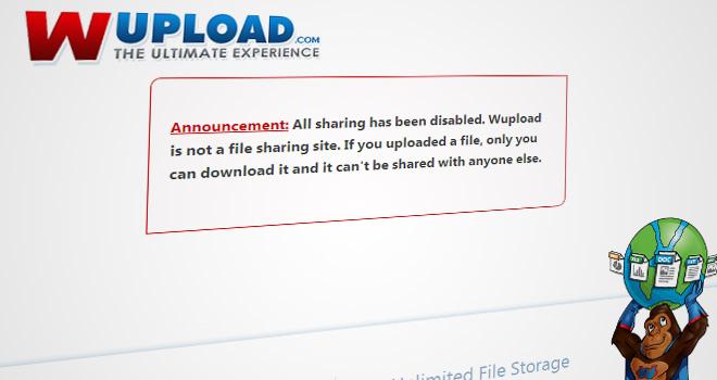 Fileserve y Wupload cesan el intercambio de archivos