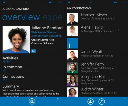LinkedIn lanzó su app para Windows Phone 7.5