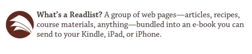 Crea libros electrónicos a partir de direcciones URL con Readlists