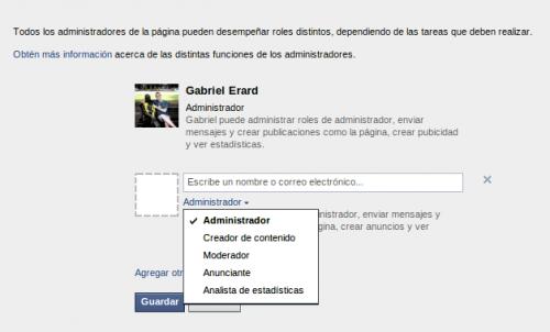 Las páginas de Facebook ahora permiten roles de administración