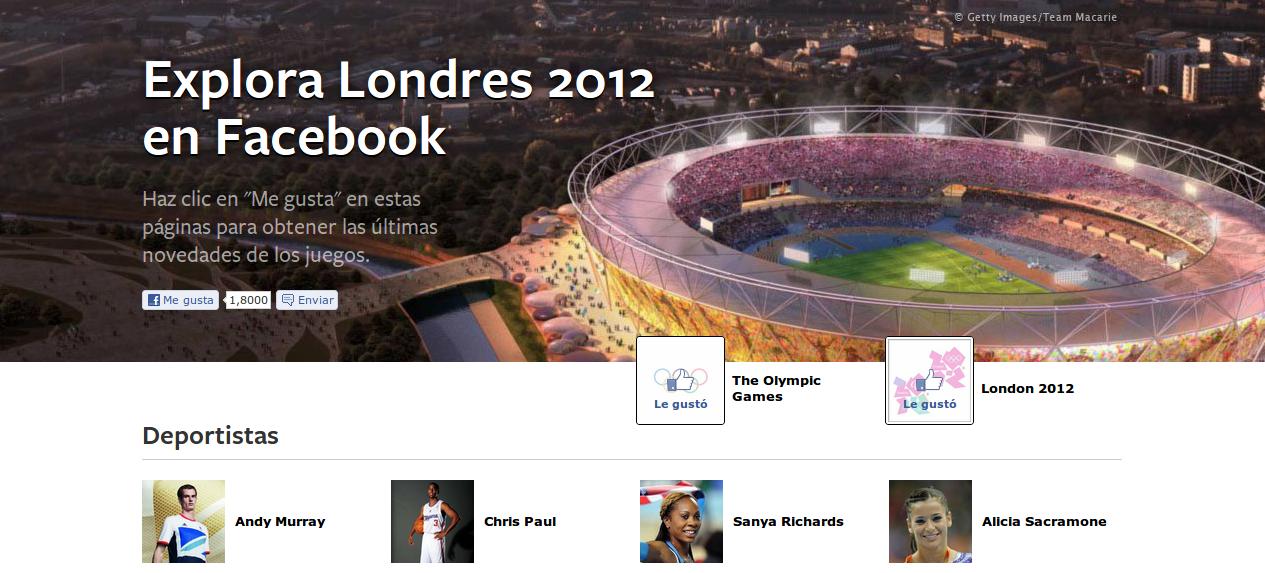 Facebook lanzó nueva sección para seguir los Juegos Olímpicos