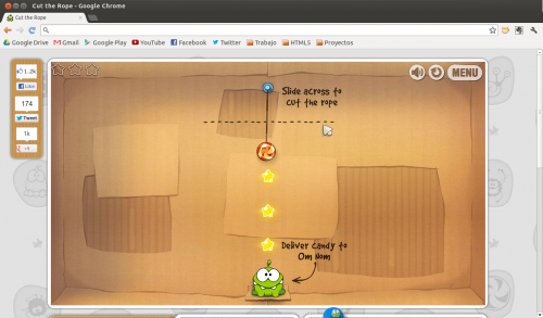 Cut the Rope llega a Google Chrome