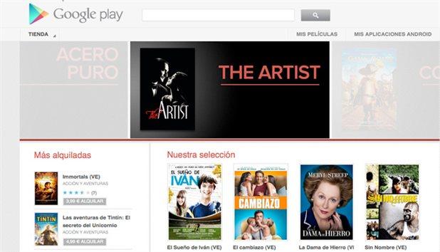 Google Play empieza a alquilar películas en España