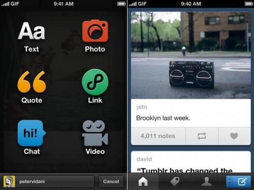 Tumblr lanzó su nueva app para iPhone, completamente rediseñada