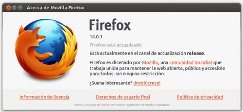 Firefox 14, disponible para la descarga