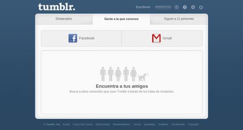 Tumblr, obligado a quitar la búsqueda de amigos vía Twitter
