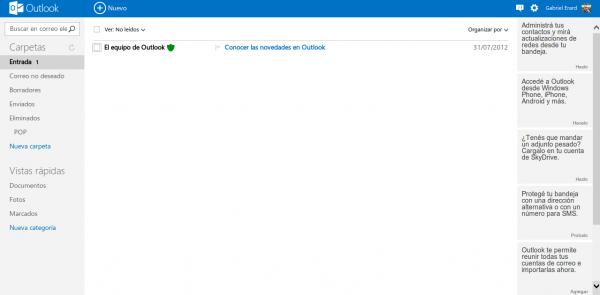 Outlook.com, nuevo servicio de correo electrónico de Microsoft