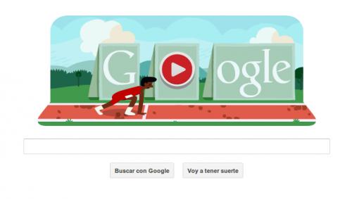 Google: Nuevo Doodle interactivo permite correr 110m con vallas