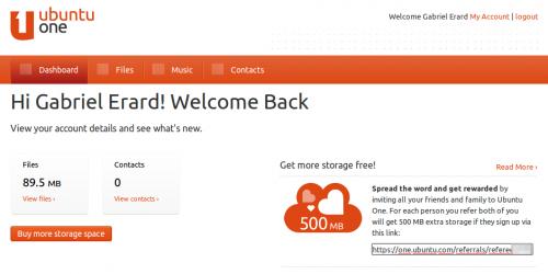 Ubuntu One lanzó su programa de usuarios referidos