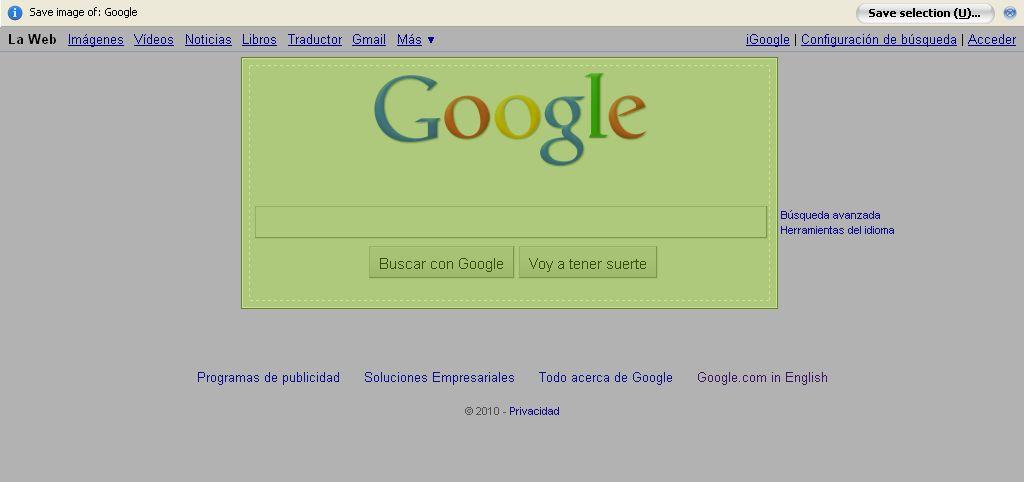 Abduction!, saca capturas de pantalla en Firefox