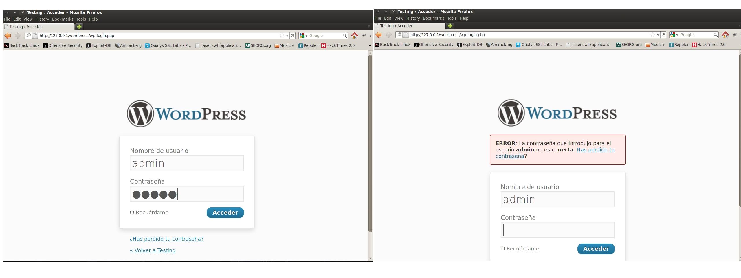 Cómo eliminar el efecto de usuario incorrecto en WordPress