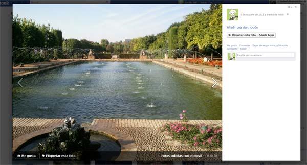 Cambios en el visor de fotografías de Facebook