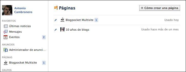 ¿Cuenta en Facebook o página de fans?