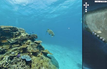 Streetview añade imágenes del fondo marino