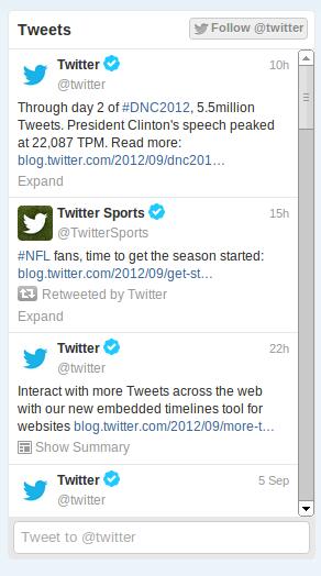 Twitter ahora permite insertar timelines de tweets en cualquier sitio