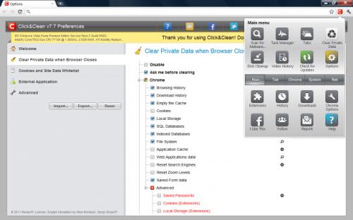 Mantén tu navegador limpio con Click&Clean