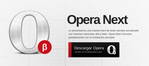 La beta de Opera 12.10 ya está disponible