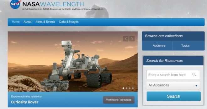 Wave Lenght, el nuevo portal educativo de la NASA