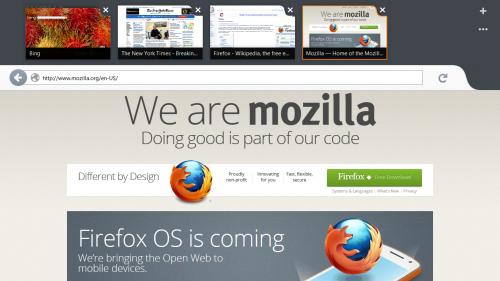 Mozilla presentó Firefox Metro para Windows 8