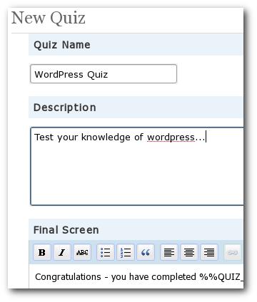 Quizzin, un plugin para crear tests en WordPress