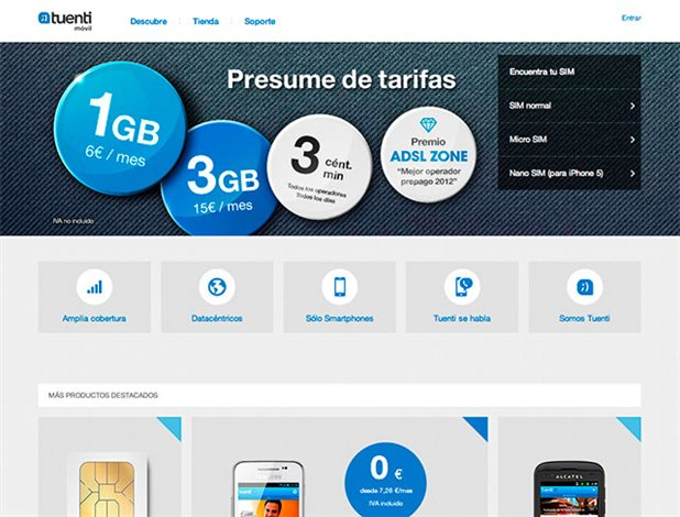 Tuenti móvil presenta su tienda online