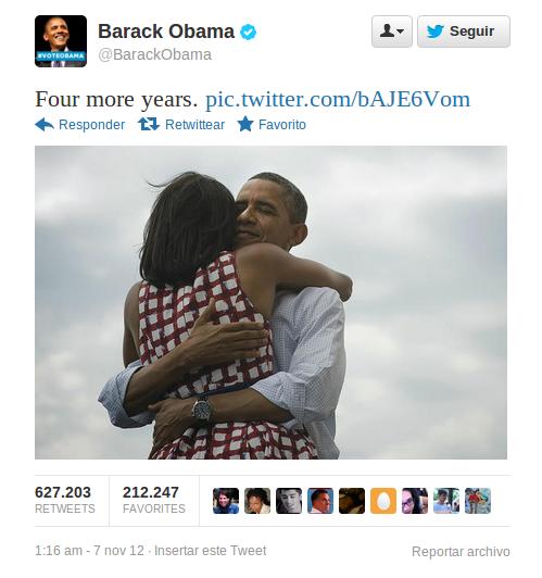 Barack Obama rompe récords en Twitter
