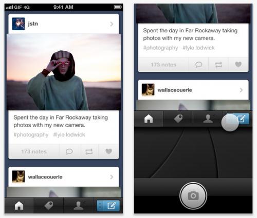 Tumblr lanzó su app nativa para iPhone