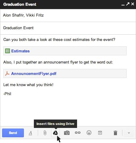 Gmail añade mayor integración con Google Drive