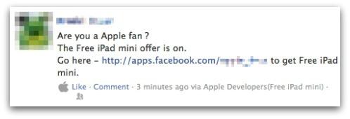 Nueva estafa en Facebook promete un iPad Mini de regalo