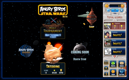 Rovio lanzó Angry Birds Star Wars para Facebook
