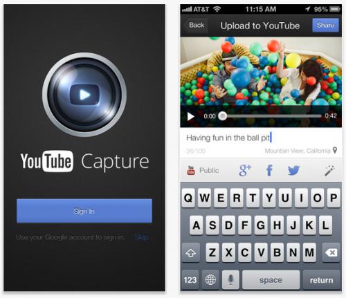 Capture, nueva app de YouTube para iOS
