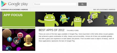 Las mejores apps de Play Store en 2012, según Google