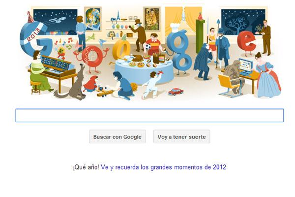 Google hace un resumen de sus doodles publicados en 2012