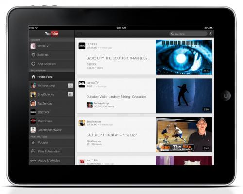 YouTube para iOS añadió soporte para iPad