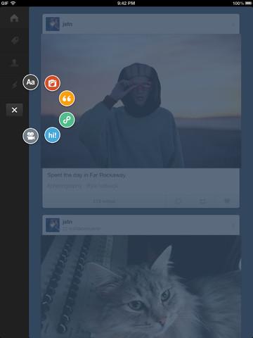 Tumblr lanzó su app para iPad
