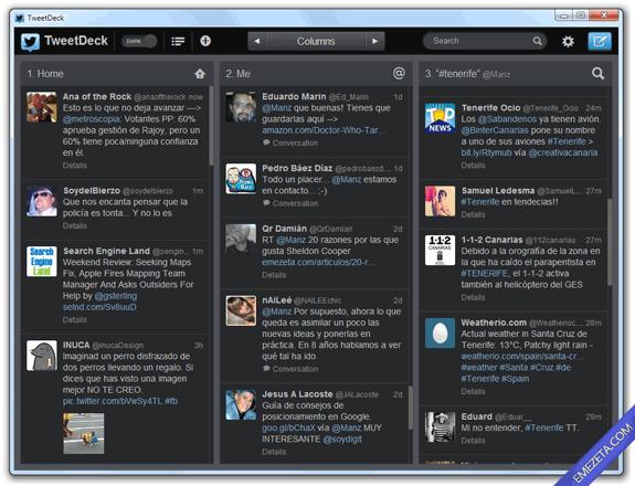 Clientes de escritorio para Twitter