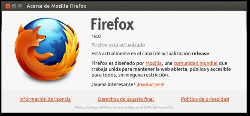 Firefox 18, disponible antes del lanzamiento oficial