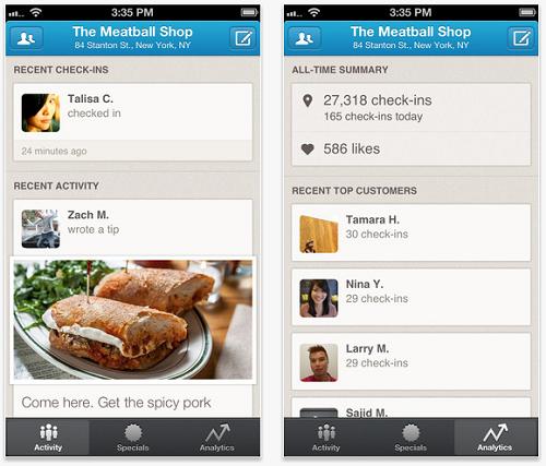 Foursquare lanza una app exclusiva para negocios