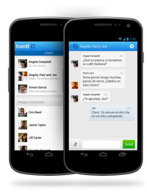 El chat en grupo de Tuenti llega al móvil