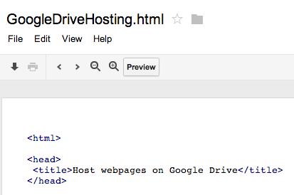 Google Drive ahora permite alojar sitios web