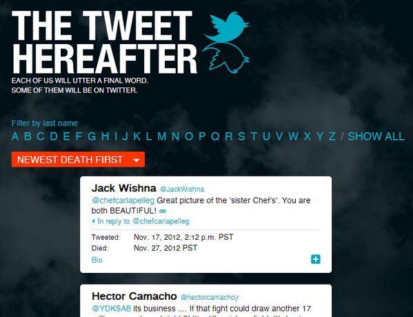 The Tweet Hearafter, los últimos tuits antes de morir