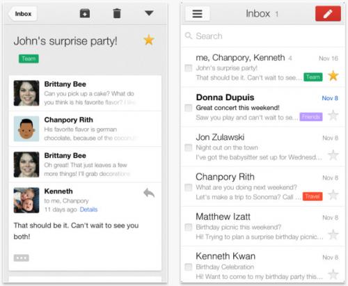 Gmail para iOS suma más funciones en su nueva versión