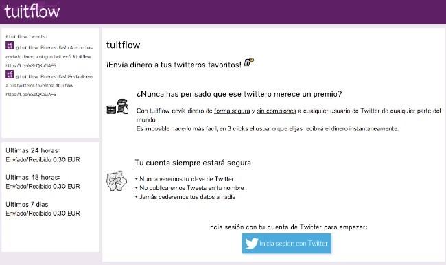 Tuitflow: envía micropagos a través de Twitter