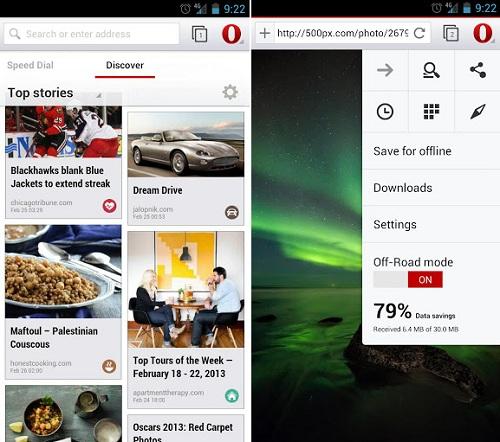 Llega la primera beta de Opera para Android con WebKit