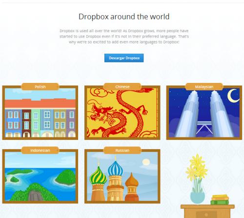 Dropbox amplia su traducción a otros seis idiomas