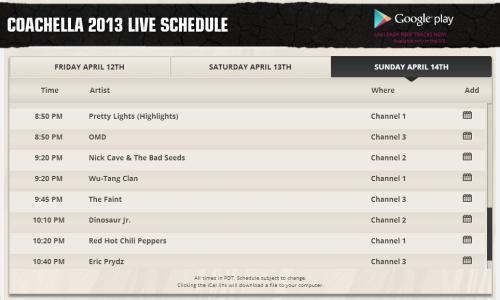 El Festival de Coachella vuelve a YouTube