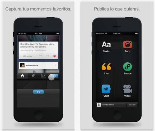 Tumblr mejora su integración con otras redes sociales en iOS