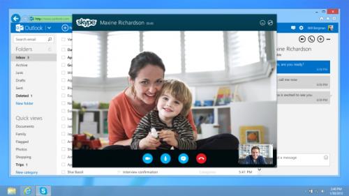 Las videollamadas de Skype llegan a Outlook.com
