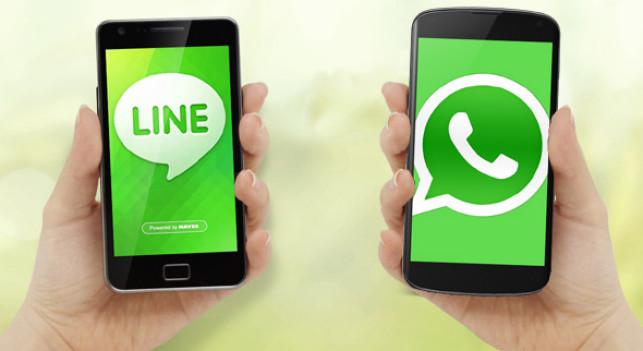 Line y WhatsApp, ¿competencia para Facebook?