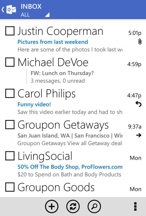Microsoft renueva la app de Outlook.com para Android